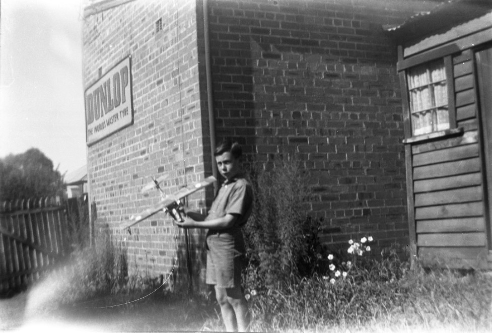 John Hague as a child at Cabramatta