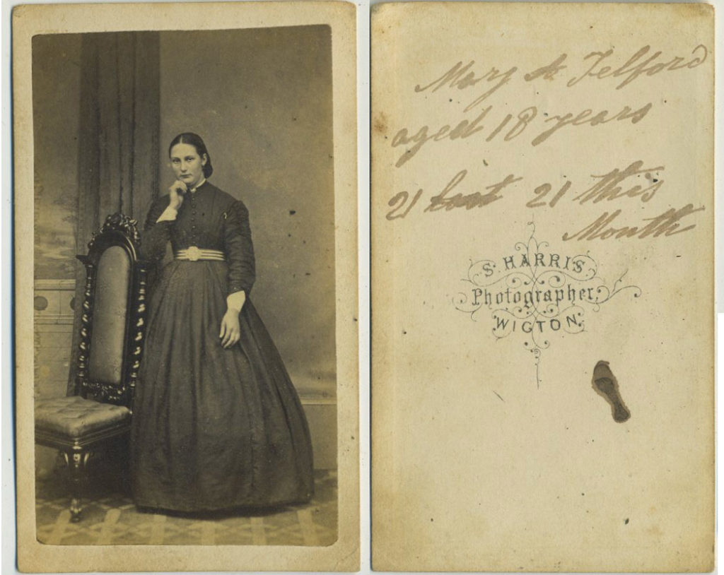 Mary A. Telford aged 18 years.