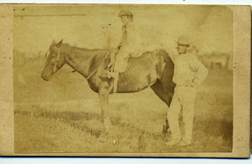 Unknown Couple with a Horse