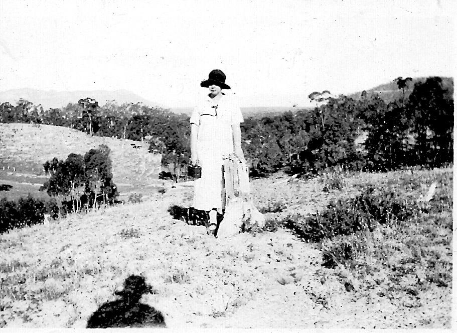 Grace Slapp overlooking Capertee Valley in distance