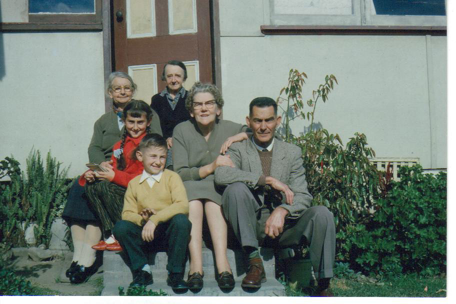 Grace (back left) with Allen Family
