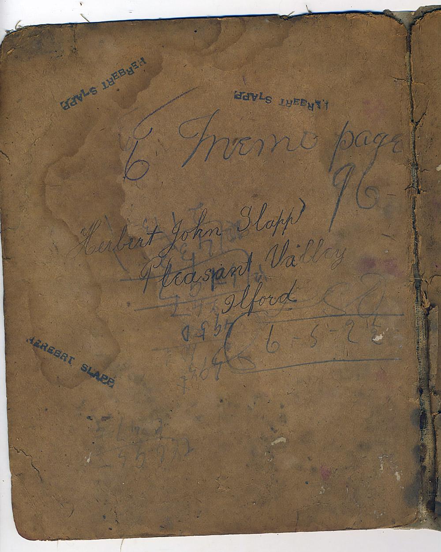 Herbert John Slapp school book extras