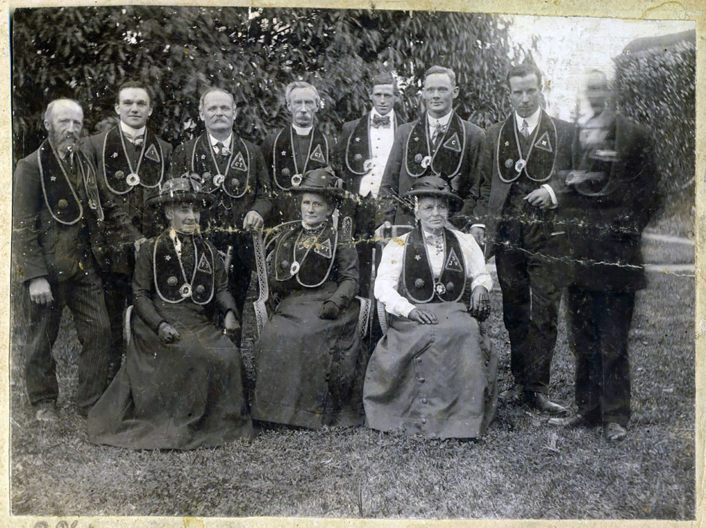 James Hague with unknown group.