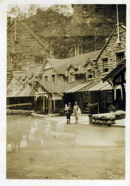 Jenolan Caves House with unknown people.