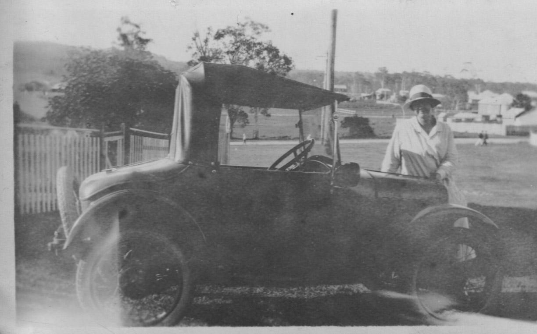 Nurse Grace Slapp with Austin 7 Bedpan Car