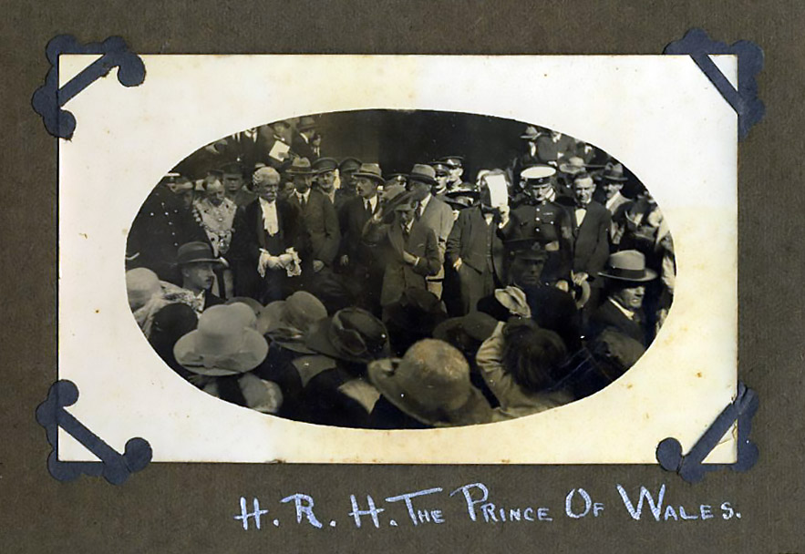 H. R. H. The Prince of Wales visit 1920