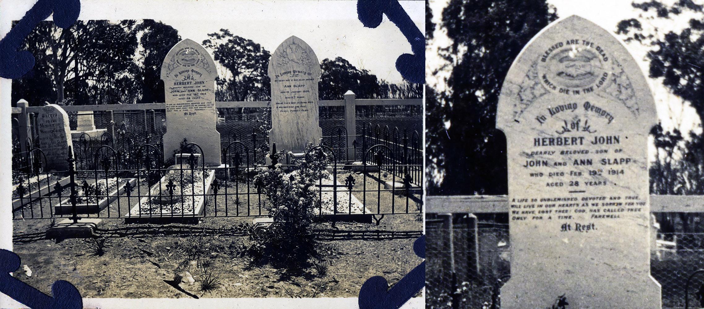 Herbert John Slapp Cemetery headstone