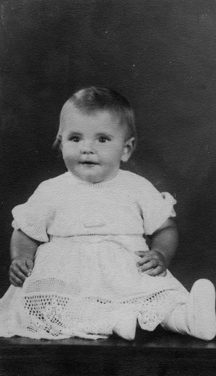 Hazel Slapp age 1