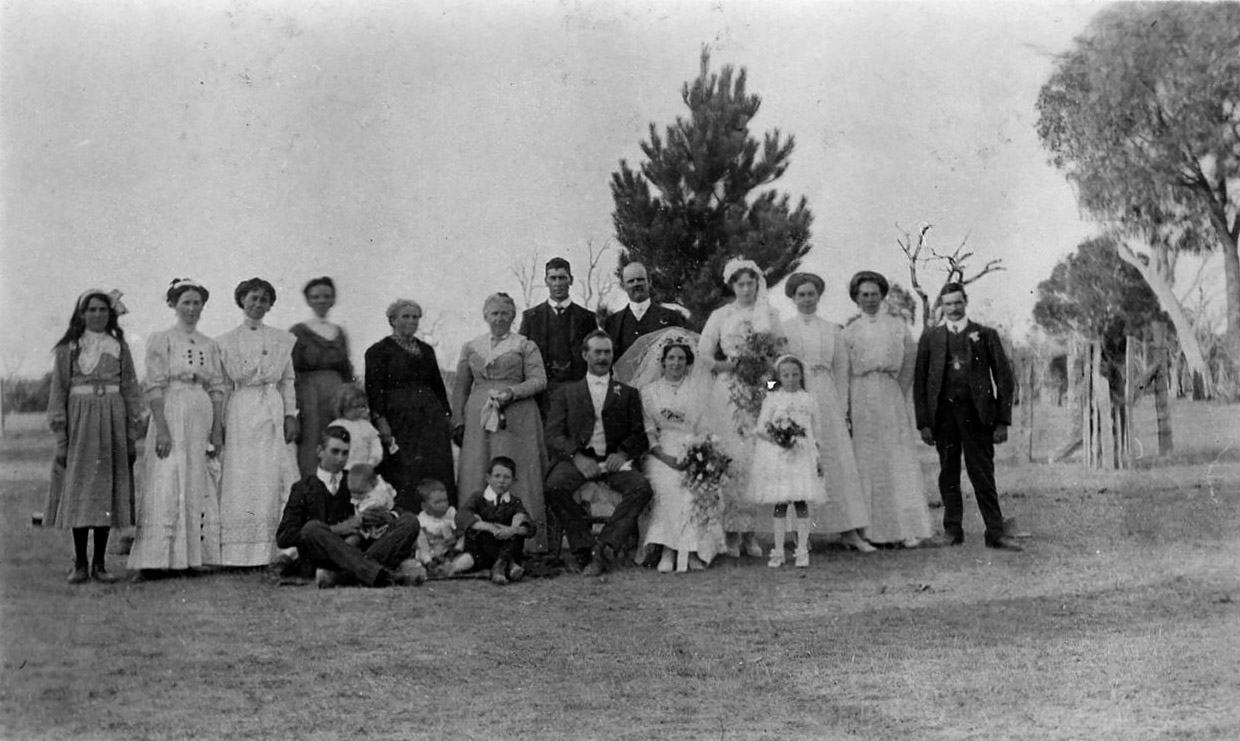 Sophia Fraser's wedding to Robert Bush Slapp 1913